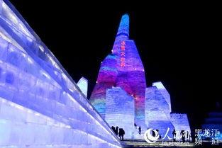 ...体量最大的冰雪景观.-哈尔滨冰雪大世界 玩转梦幻的 冰雪王国
