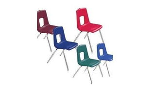 ...lastic stacking chair