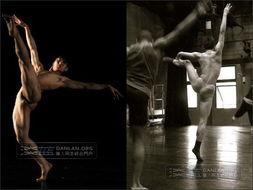 跳芭蕾的性感舞蹈男生们