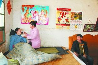 【图片】心里空落落-...的婆婆喂饭.本组图片 记者 -华亭县 留守妇女杨金霞的期盼