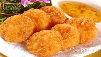 百香果怎么吃图解大料名字加-虾饼的做法是将加了调味料的面糊裹上新鲜的大虾,放入油锅中炸,出...