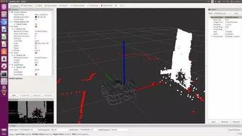 ...雷达(红点)和RealSense(白点)的TurtleBot 3在ROS 3D可视化工...