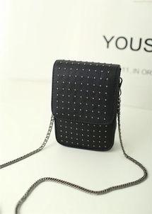 2014新款韩版手机包铆钉单肩包小包 零钱包女包斜跨包迷你包