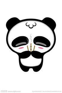 熊猫烧香卡通人物图片