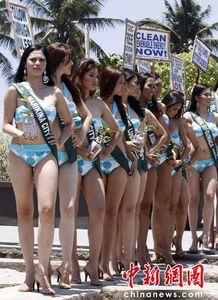菲律宾美女亮相马尼拉海洋公园 秀性感身材 五