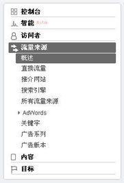 ...直接流量、推介网站和搜索引擎,还有一类补充的是AdWords(最下...