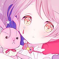 粉色系可爱少女动漫头像