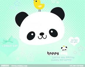 可爱卡通背景熊猫图片