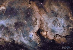 ...离光线和剧烈的宇宙风,冲散了周围的大量气体和尘埃.该星云中的...