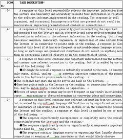 教师资格考试(小学)面试评分标准