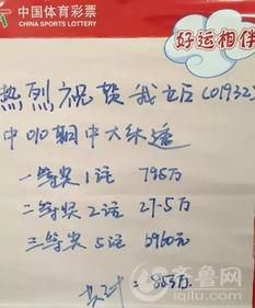 彩票站站长打来电话的时候,济南孙村彩民刘洪飞的心情是激动的,...