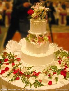 漂亮的婚礼蛋糕图片