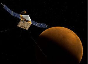 MAVEN探测器 印度火星探测器MOM NASA火星探测器MAVEN、印度...