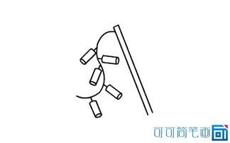 鞭炮的绘画步骤四:画出来一串的小爆竹,爆竹与爆竹中间要有这间隙...