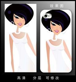 个性美女立体背景手机壳