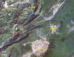 房屋受损情况及崩塌、滑坡分布(空间分辨率为0.2米)   地震核心区遥...