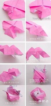 漂亮纸玫瑰的折法图解 折纸玫瑰花的步骤图