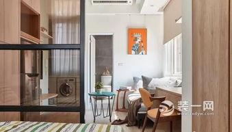 现代简约风格小户型装修实例 40平米一居室设计