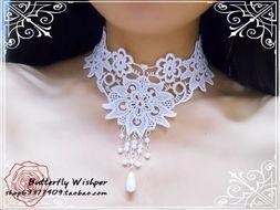 纯恋之樱 花朵流苏 洛丽塔 新娘公主 蕾丝项链颈饰