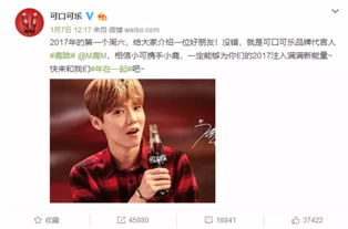 017年1月,可口可乐宣布鹿晗成为... Dealers建立了合作关系.Music ...