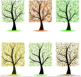 创意手绘方形树木图片