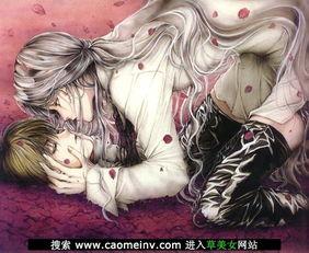 卡通动漫情侣亲嘴亲吻热吻图片