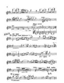 梁祝 的小提琴五线谱