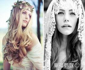 外来工树林里的秘密-丛林中的仙子 森林系新娘的鲜花头冠