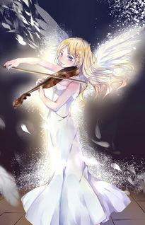 求图一女孩拉小提琴 动漫 最好侧脸 清晰 谢谢