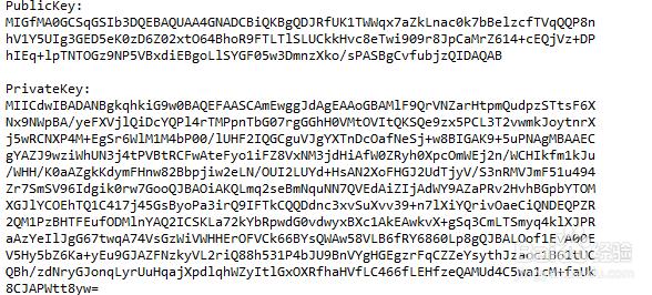 Java RSA加密算法生成公钥和私钥