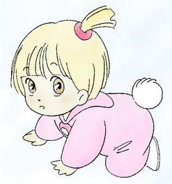 求一张卡通的婴儿在地上爬行的图片,要可爱一点的