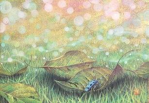 而弱蝉虫,偎草残息退暮,霜丛待决陨亡.   冥空变幻无常.弈世循环...