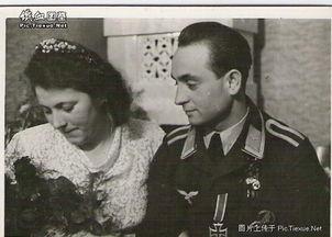 不多见的德国军人结婚照
