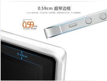 度仅为0.59CM,厚度与主流手机一般,这样淡化了屏幕的边界化,使...