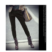 SY沙扬 特价秋冬款纯色高腰大码铅笔裤小脚裤靴裤休闲裤女长裤