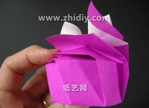折纸盒大全图解之维多利亚秘密的折纸礼盒图解实拍教程