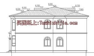 四间两层别墅房屋设计图,外观效果图好看