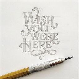 漂亮手写英文字体设计