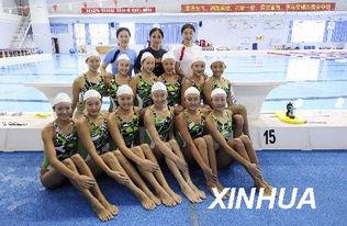 花样游泳 国家花游队进行公开课训练
