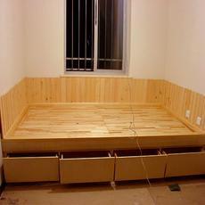 唐储-唐蕴和式榻榻米杉木地台 储藏地柜 踏踏咪储物箱 踏踏米升降机