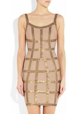 ...veleger绷带礼服 长袖定珠 绷带裙 包臀裙