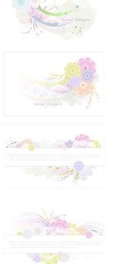 卡通圆形和花朵AI免费下载 印花图案素材