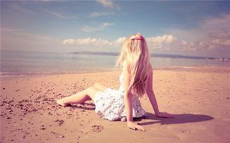 女生背影海边_唯美图片-男生孤独背影唯美图片
