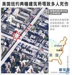 美国纽约一楼房发生爆炸 部分楼体倒塌