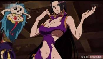 脱凡帝战-女帝将自己的衣服脱下让路飞看后背的印记时,可以看出来女帝完全没...