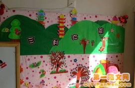 幼儿园春天墙面布置图片 三月江南