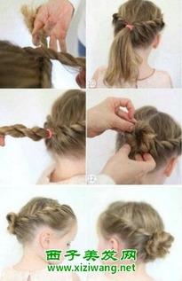 新款儿童辫子发型扎法图解