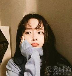 空气刘海+中长发发型图片-圆脸空气刘海发型图片