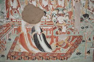 螺髻梵王-莫高窟第158窟-敦煌壁画中的密严经变