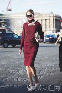 ...裙 搭配:裸色高跟-今秋酒红元素穿搭预热